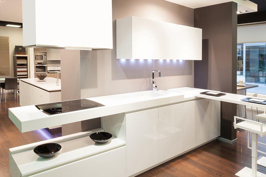 Cocinas blancas mil cocinas en una cocinas rio for Cocinas modernas blancas precios