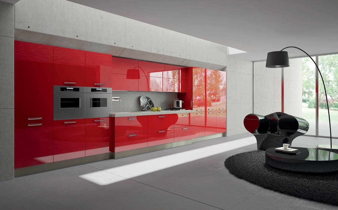 Muebles de Cocina  Modelo Rojo  Cocinas Rio