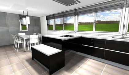 Diseños de Cocinas en amplias superfícies