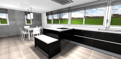 Diseños de Cocinas para grandes espacios