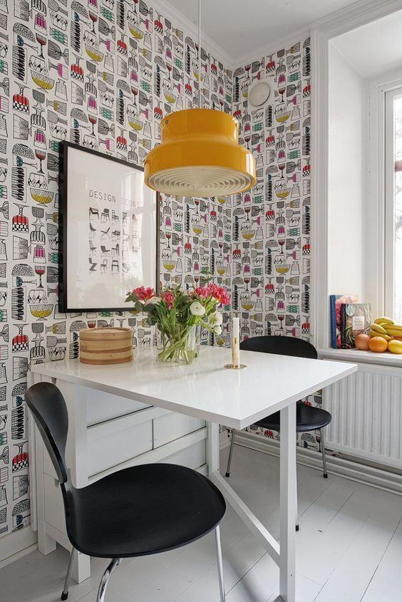 Paredes que envuelven tu cocina cocinas rio for Papel pintado cocina ikea