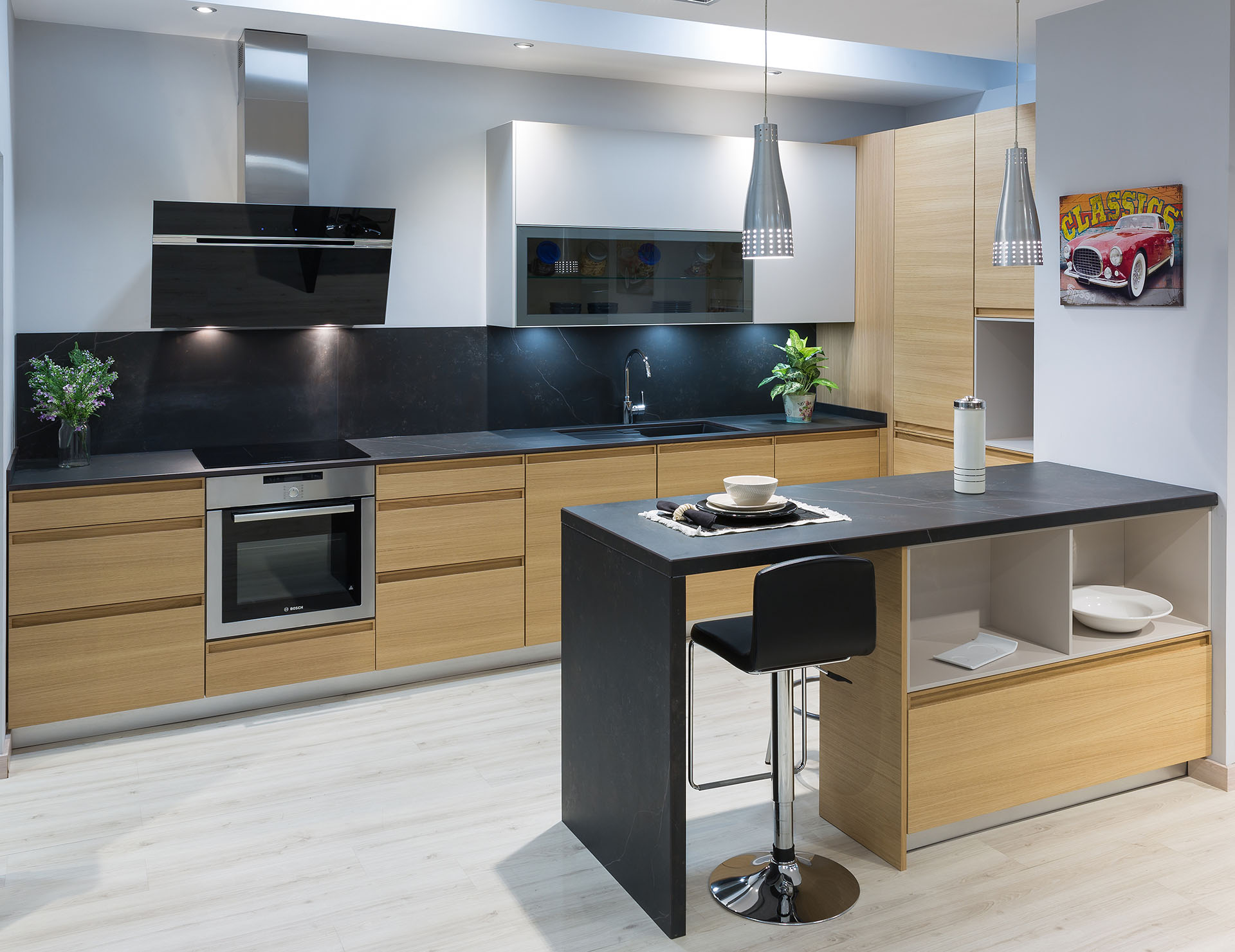 La madera el referente de una cocina con estilo cocinas rio for Modelos de cocinas modernas americanas