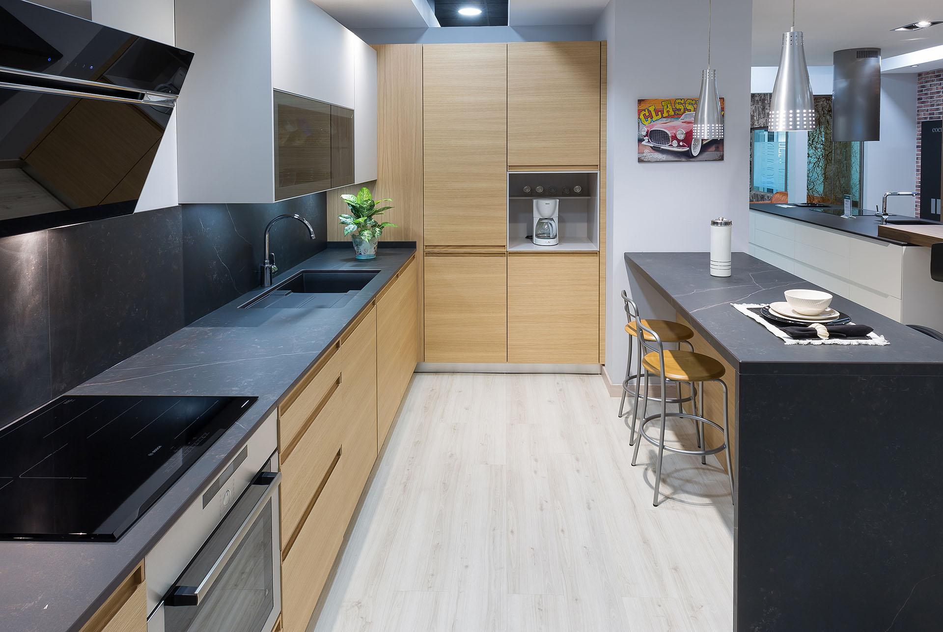 La madera el referente de una cocina con estilo cocinas rio for Cocinas en linea