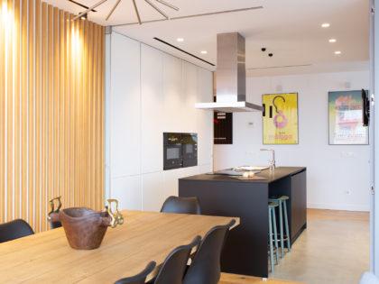 Una cocina americana ideal para un piso en Madrid